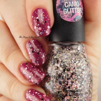 Sinful Colors Camo Glitter Good Company, Cute Cadet, UnderCover swatches + review
