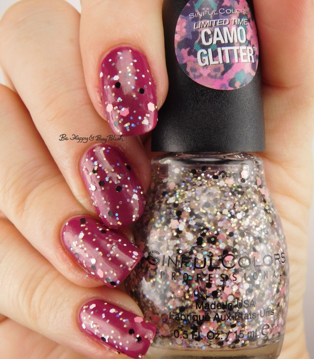Sinful Colors Camo Glitter Cute Cadet over Sinful Colors Iridescent Color Mars Attracts | Be Happy And Buy Polish