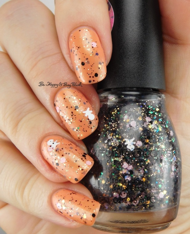 Sinful Colors Camo Glitter Under Cover over Sinful Colors Iridescent Color Flash Back | Be Happy And Buy Polish