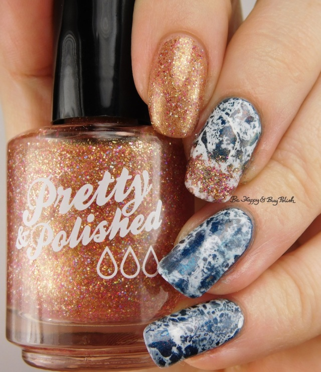 beach manicure with Pretty & Polished Sand In My Crack, China Glaze Rodeo Fanatic   Be Happy And Buy Polish