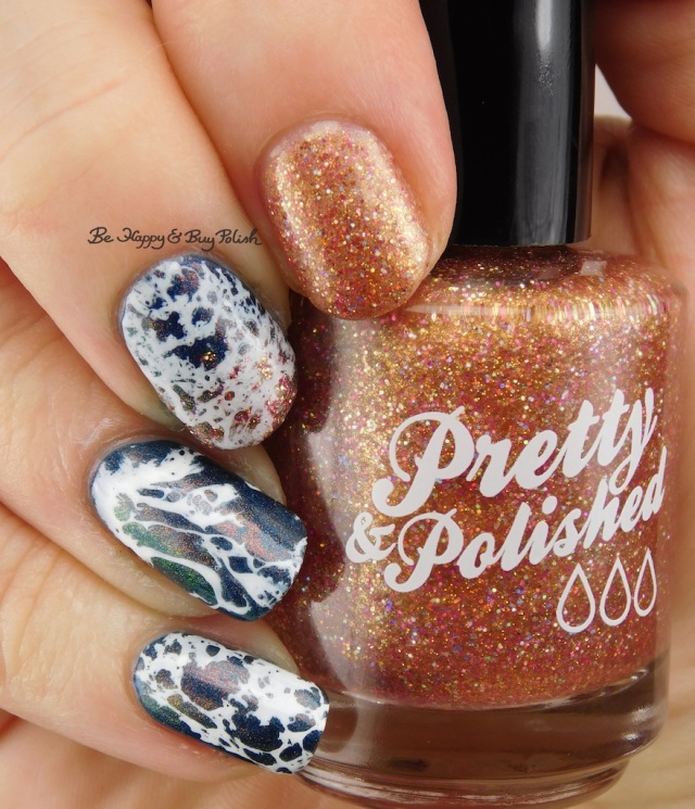 beach nail art with Pretty & Polished Sand In My Crack, China Glaze Rodeo Fanatic   Be Happy And Buy Polish