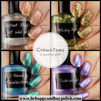 CrowsToes Nail Color CrowsMas 2016 nail polish collection swatches + review