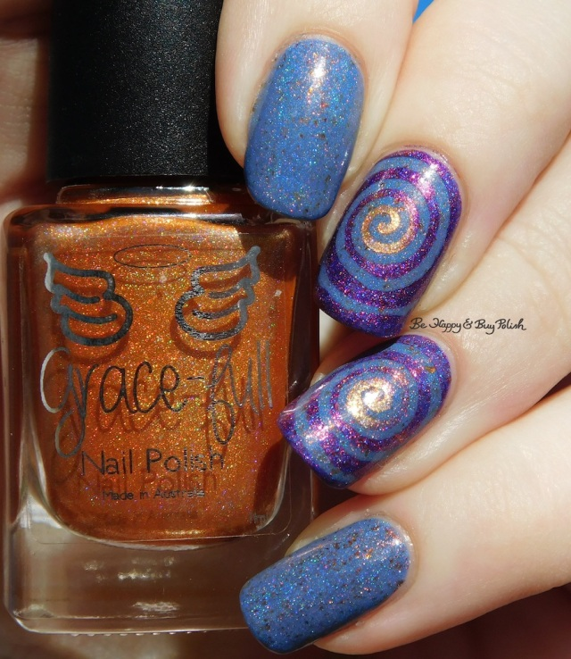 Grace-full Nail Polish Mango Sherbert, Pahlish My Bespoke Psychopath II, Ever After Burning Twilight holographic | Be Happy And Buy Polish