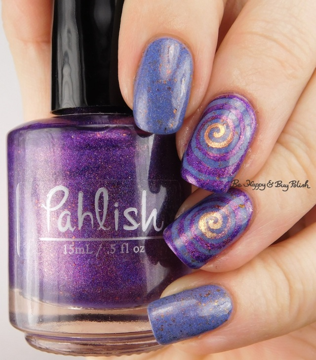 Pahlish My Bespoke Psychopath II, Grace-full Nail Polish Mango Sherbert, Ever After Burning Twilight | Be Happy And Buy Polish