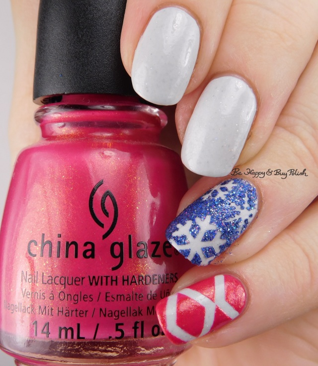 China Glaze Strawberry Fields, Fancy Gloss Ocean Pixie, Model City Polish Glisten | Be Happy And Buy Polish