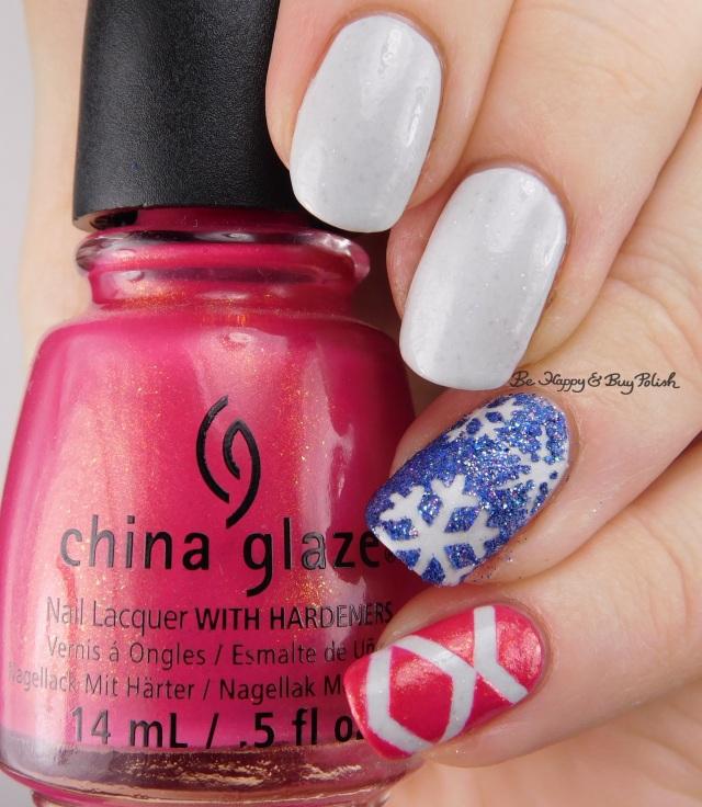 China Glaze Strawberry Fields, Fancy Gloss Ocean Pixie, Model City Polish Glisten | Be Happy And Buy Polish