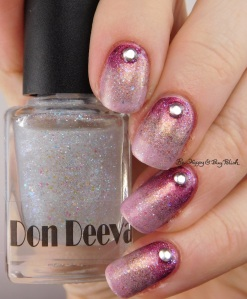 Don Deeva Varnish Pony on Acid, Lilypad Lacquer Nice As Spice, Celestial Cosmetics LE May 2016, Sephora by OPI Ruby Without a Cause gradient | Be Happy And Buy Polish