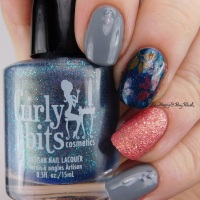 Pick Three Polishes: Zoya Zooey, Zoya August, Girly Bits What Happens In Vegas Ends Up on Twitter, KBShimmer decal