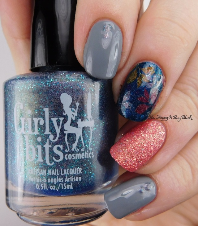 Girly Bits Cosmetics What Happens In Vegas Ends Up On Twitter, Zoya August, Zoya Zooey, KBShimmer floral decal | Be Happy And Buy Polish