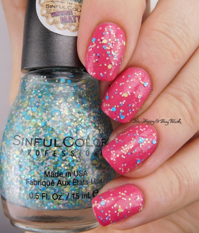Sinful Colors Kanfetti over Pink Velvet | Be Happy And Buy Polish