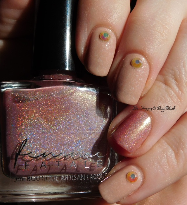 Femme Fatale Cosmetics Hourglass holographic, Sinful Colors Stoned Crystal Shimmer Just Deserts | Be Happy And Buy Polish