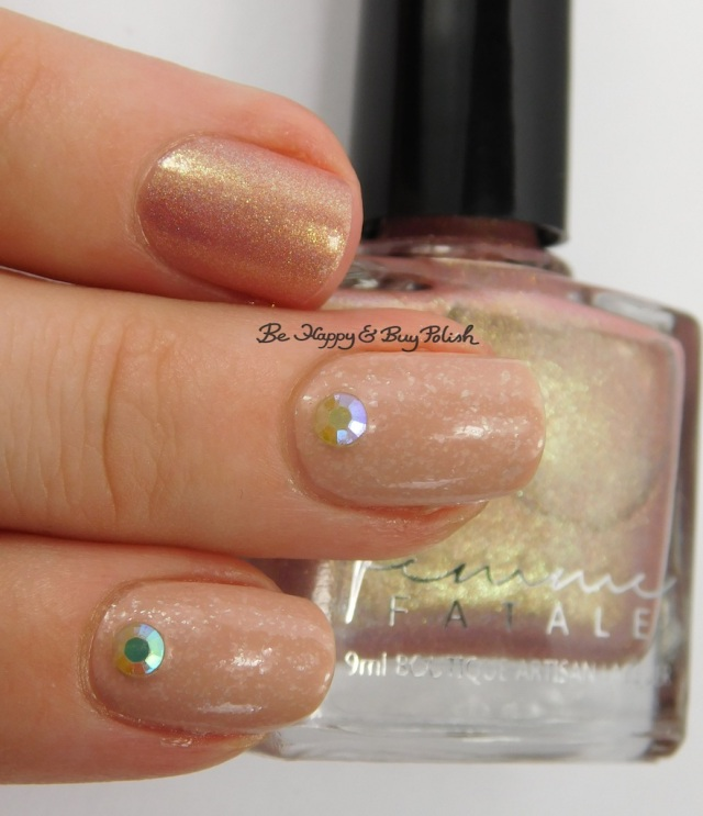 Femme Fatale Cosmetics Hourglass, Sinful Colors Stoned Crystal Shimmer Just Deserts | Be Happy And Buy Polish