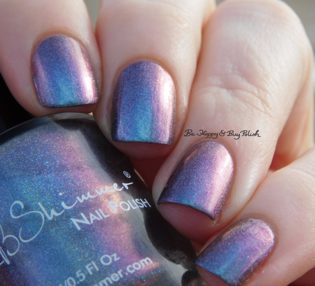 KBShimmer None of Your Bismuth purple to blue to red purple shift | Be Happy And Buy Polish