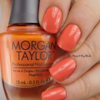 Morgan Taylor Beach Babe, Candy Coated Coral, Going Native, Later Alligator swatches + review
