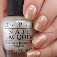 OPI Samoan Sand + Make Light of the Situation layered manicure