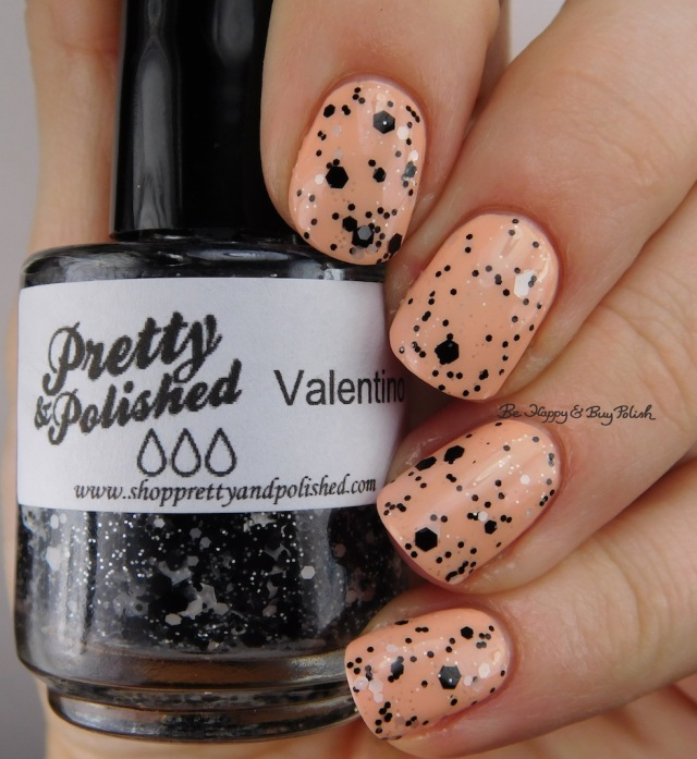 Pretty & Polished Valentino over Morgan Taylor Beach Babe | Be Happy And Buy Polish