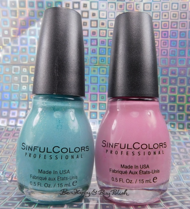 Sinful Colors Kandee Johnson Mint Sugar, Pink Sugar nail polish | Be Happy And Buy Polish