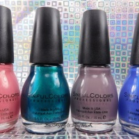 Sinful Colors Soul Mate, Jade Kat, So Daupe!, Deep End nail polish swatches + review