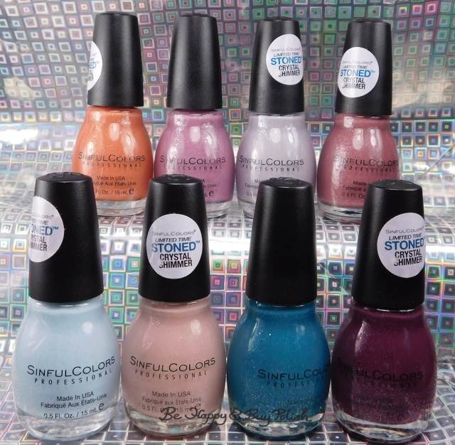 Sinful Colors Stoned Crystal Shimmers nail polish collection | Be Happy And Buy Polish