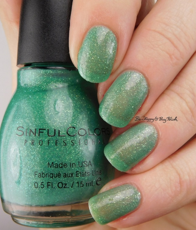 Sinful Colors Sweeten the Teal with top coat | Be Happy And Buy Polish