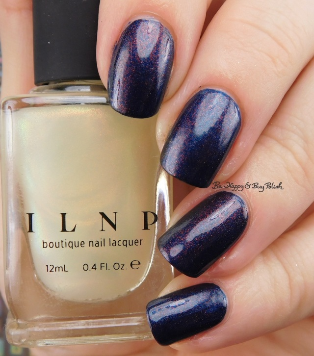 ILNP The Magician and Baroness X Sir Cockicorn over essie bell-bottom blues | Be Happy And Buy Polish