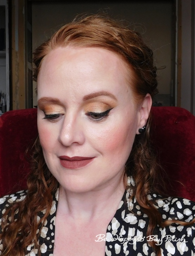 makeup look with Glamour Doll Eyes, Jesse's Girl Sounds of the City, Jordana Sweet Cream Matte Cinnamon Toast | Be Happy And Buy Polish