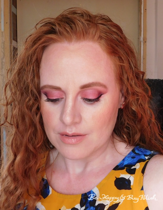 makeup look with Glamour Doll Eyes Sherbert, Rose City, Forever Alone, LipSense Apple Cider | Be Happy And Buy Polish