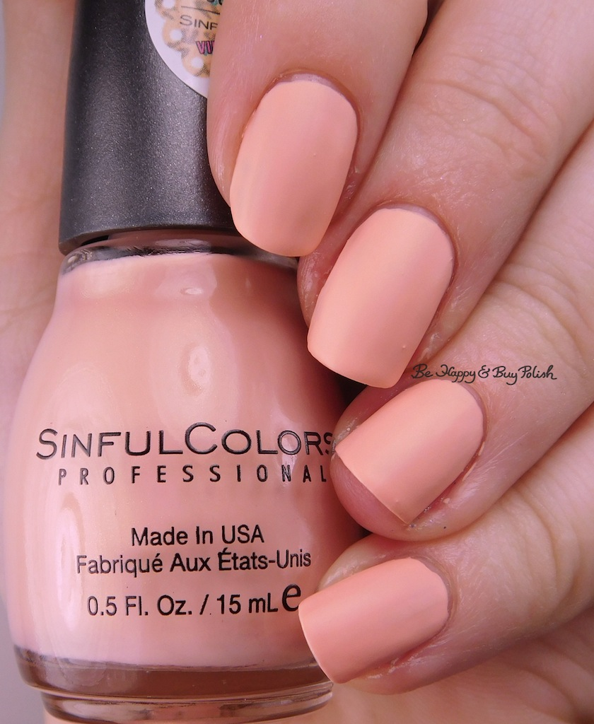 Sinful Colors Kandee Johnson Vintage Matte nail polish swatches + ...