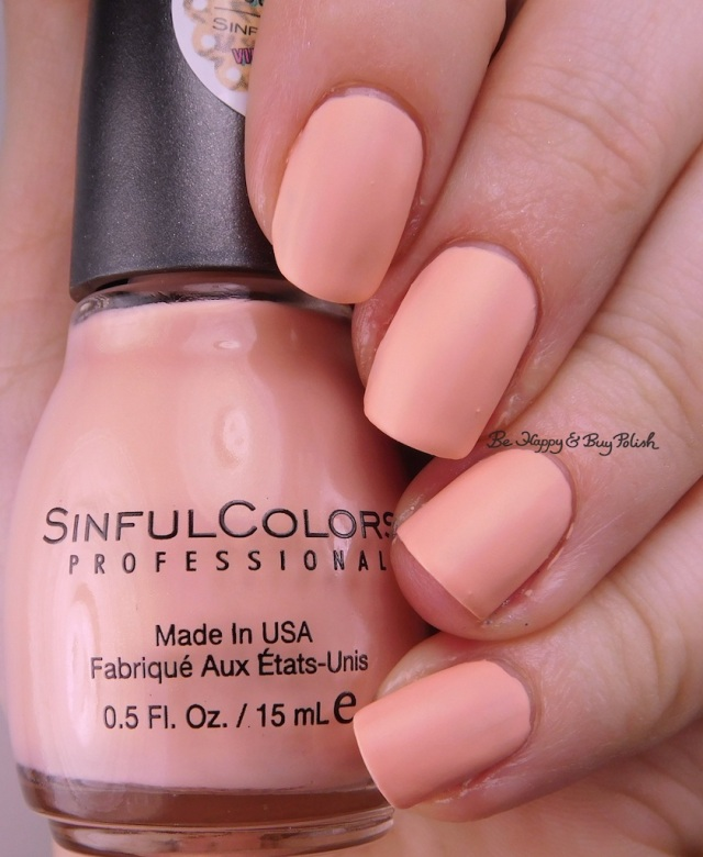 Sinful Colors Kandee Johnson Peaches N' Cream | Be Happy And Buy Polish