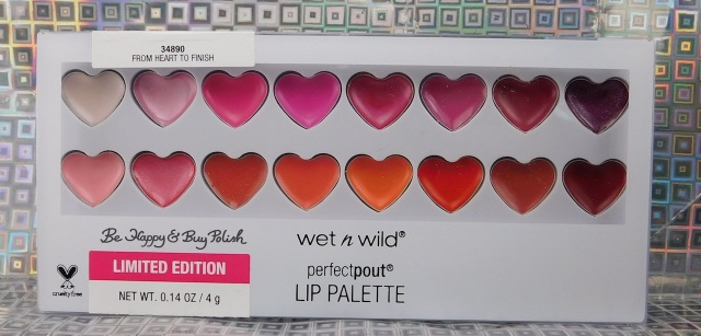 Wet N Wild Queen of My Heart Perfect Pout Lip Palette From Heart to Finish | Be Happy And Buy Polish