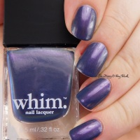 Whim. Sage of Innocence, When the Clock Strikes, Crackling Embers nail polish swatches + review