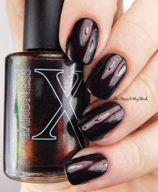 Baroness X Obsidian over Deborah Lippmann Rolling in the Deep | Be Happy And Buy Polish