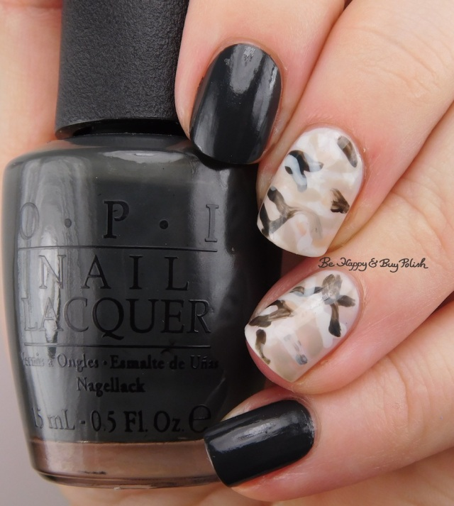 camouflage nail art with OPI nail polishes | Be Happy And Buy Polish