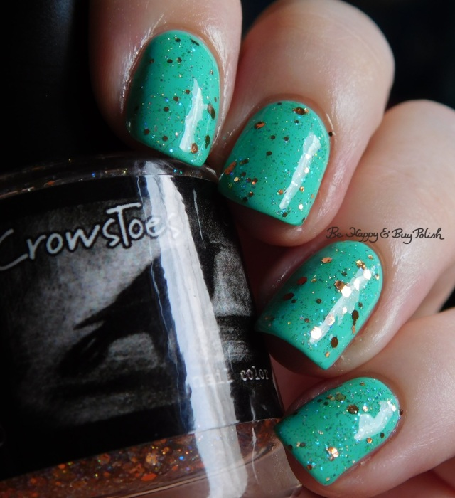 CrowsToes Nail Color Buy Polish over Baroness X Topanga Teal natural light | Be Happy And Buy Polish