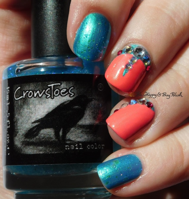 CrowsToes Nail Color Sweet As Sugar Cold As Ice, Parrot Polish Blue Macaw, China Glaze Bite Me | Be Happy And Buy Polish