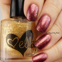 Sephora by OPI Ruby Without a Cause + ellagee Punch a Higher Floor layered manicure