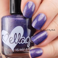ellagee The Purple One + His Royal Badness swatches + review