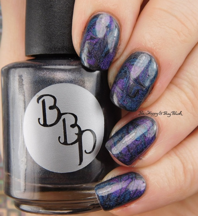 Galaxy Nail Art with Bad Bitch Polish Hera, Poseidon, Amethyst Andromeda | Be Happy And Buy Polish