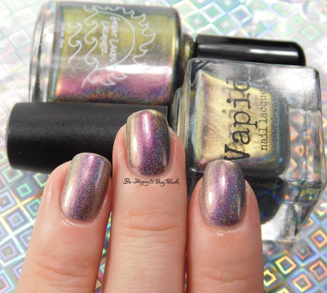 Great Lakes Lacquer The Centre Cannot Hold versus Vapid Lacquer Cyber Punk light box | Be Happy And Buy Polish