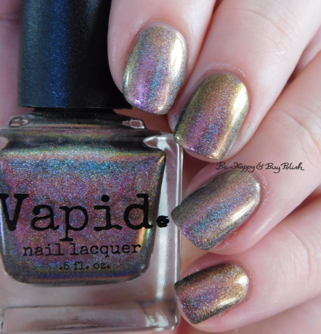 Great Lakes Lacquer The Centre Cannot Hold versus Vapid Lacquer Cyber Punk pink green | Be Happy And Buy Polish