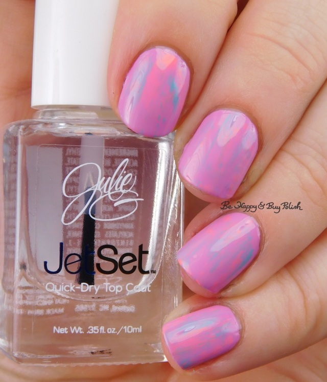 JulieG Dream In Pretty, Bikini, Tropical dry brush nail art | Be Happy And Buy Polish