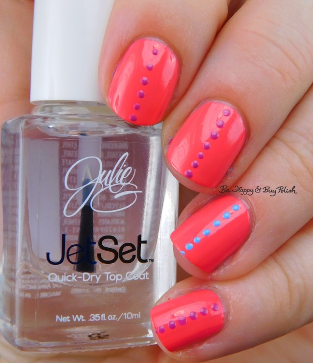 JulieG Julie's Fave, Rio de Janeiro, Santorini small polka dot nail art | Be Happy And Buy Polish