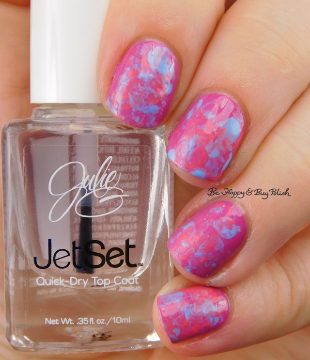 JulieG Rio de Janeiro, Santorini, Julie's Fave smoosh nail art | Be Happy And Buy Polish