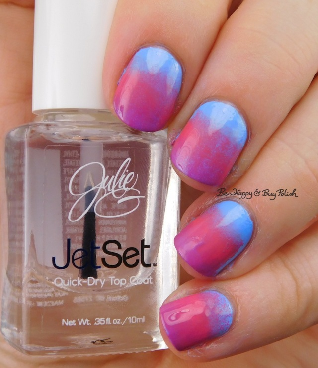 JulieG Santorini, Julie's Fave, Rio de Janeiro gradient nail art | Be Happy And Buy Polish
