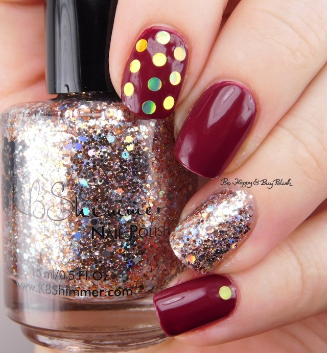KBShimmer Haute Mess, Such a Vlad-Ass glitter placement manicure | Be Happy And Buy Polish