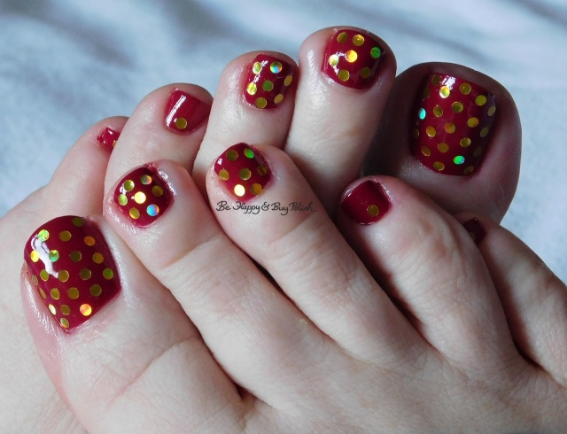 KBShimmer Such a Vlad-Ass glitter placement pedicure | Be Happy And Buy Polish