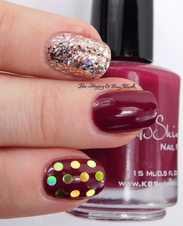 KBShimmer Such a Vlad-Ass, Haute Mess glitter placement manicure | Be Happy And Buy Polish