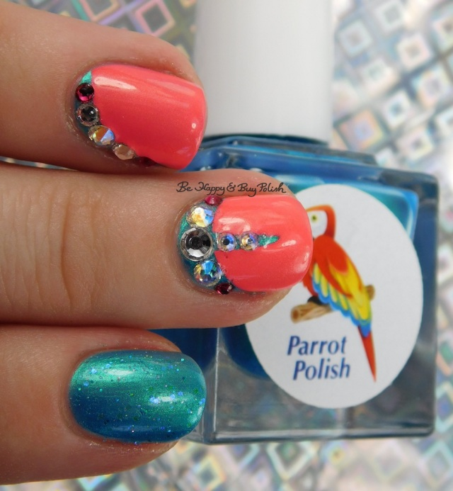 Parrot Polish Blue Macaw, CrowsToes Nail Color Sweet As Sugar Cold As Ice, China Glaze Bite Me | Be Happy And Buy Polish