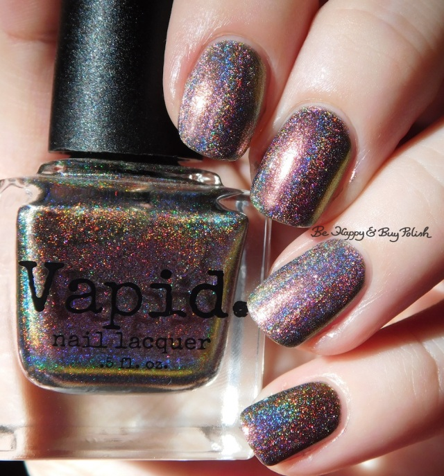 Vapid Lacquer Cyber Punk versus Great Lakes Lacquer The Centre Cannot Hold holographic | Be Happy And Buy Polish