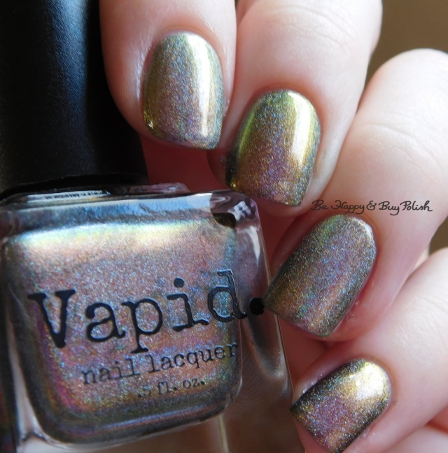 Vapid Lacquer Cyber Punk versus Great Lakes Lacquer The Centre Cannot Hold natural light | Be Happy And Buy Polish